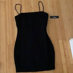 lulus black body con dress new with tags